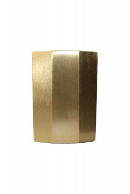 Klee Hex Satin Brass Slipper Cup