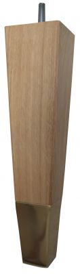 Mafalda Solid Oak Square Furniture Legs with Brass Slipper Cups